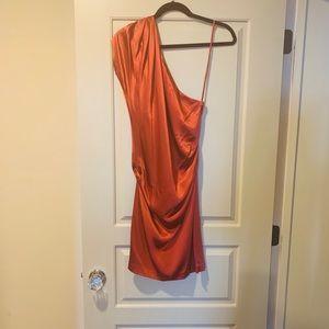 Diane von Furstenberg silk one shoulder dress